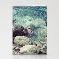 swimming Stationery Cards featuring SWIMMING by Marte Stromme