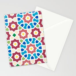 Colorful Vintage Mosaic Pattern Stationery Cards