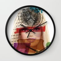 barbie Wall Clocks featuring Barbie by benjamin chaubard