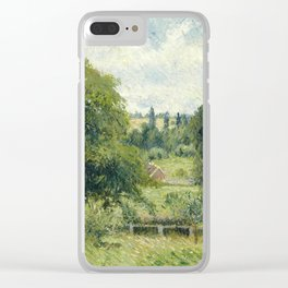 "Camille Pissarro ""Le grand noyer dans le pré, Éragny"" (""The big walnut in the meadow, Éragny"") Clear iPhone Case"