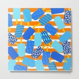 Santorini Popsicles Metal Print