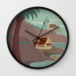 Ember Island Travel Poster Wall Clock