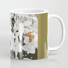 Hydrangea And Butterflies in Frame #decor #society6 Coffee Mug