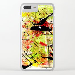 In The Falling Rain Clear iPhone Case