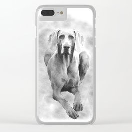 MR TEE THE WEIMARANER Clear iPhone Case