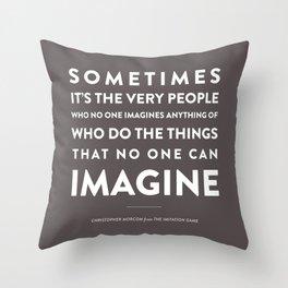 Imagine - Quotable Series Throw Pillow