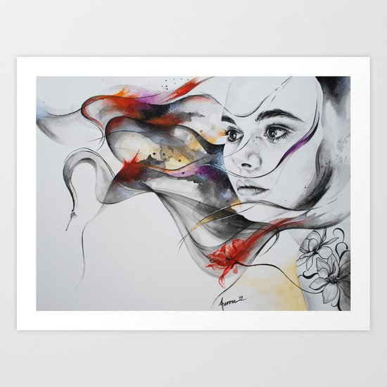 Touch of color Art Print