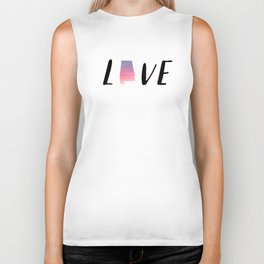 Alabama Love - Sunset Watercolor State Biker Tank