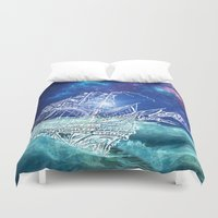 neverland Duvet Covers featuring To Neverland by Cat Milchard