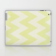 Grey and Lime Green Textured Chevron Pattern Laptop & iPad Skin