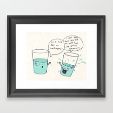 another optimistic glass Framed Art Print