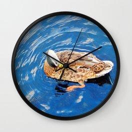 Making Waves While Preening Wall Clock