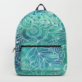 Green Abstract with Doodles Backpack