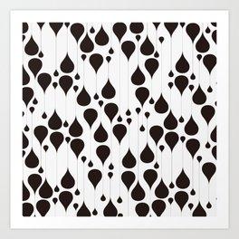 Monochrome waterdrops pattern. Art Print