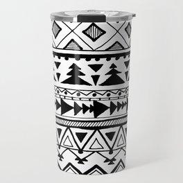 Tribal bohemian Mexican Aztec Style Pattern Doodle Travel Mug