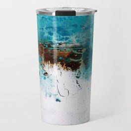 Teal brown art by Matt LeBlanc Art Travel Mug