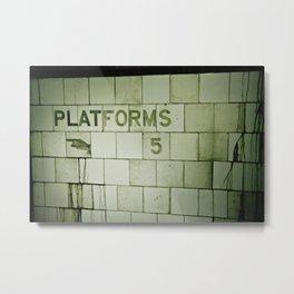 Apocalyptic station Metal Print