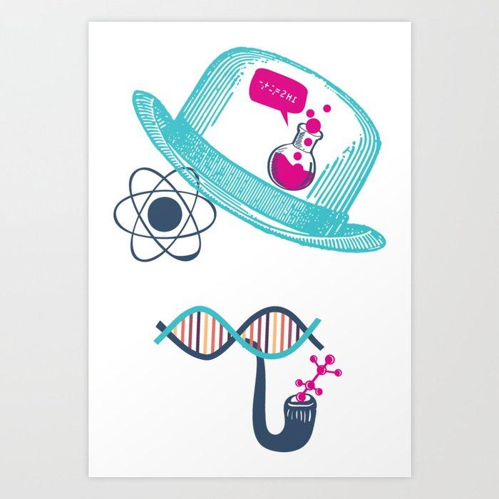Science Moustache Art Print