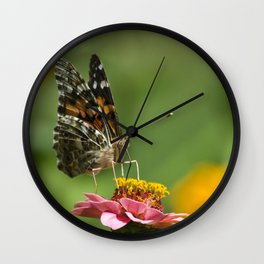 Lady Butterfly Wall Clock