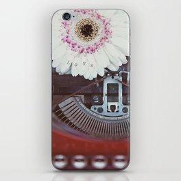 Message of Love Typewriter iPhone Skin