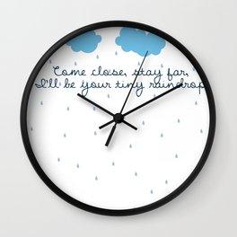 Tiny Raindrops (Balance And Composure lyrics) Wall Clock