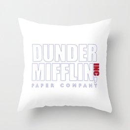 Dunder Mifflin The Office Logo,white Throw Pillow