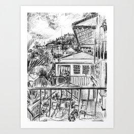 Bunker Hill Hotel, St. Thomas Art Print