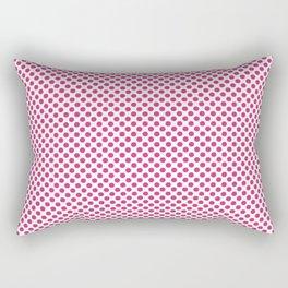 Fuchsia Purple Polka Dots Rectangular Pillow