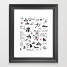 Bat-man in Love Framed Art Print