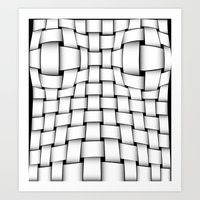 bands Art Prints featuring intertwined bands by siloto