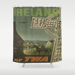 Vintage poster - Ireland Shower Curtain