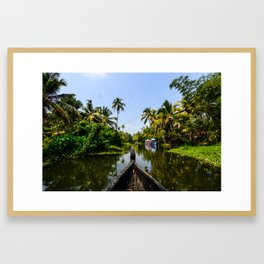 God's Country - Kerala, India Framed Art Print