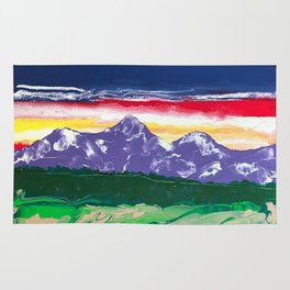 Purple mountains majesty Rug