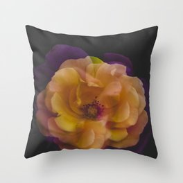 Roses (double exposure version) Throw Pillow