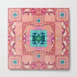 Pretty Pretty Boho Sacred Geometric Quilt Print Metal Print
