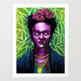 Zombie Frida  Art Print