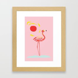 A Flamingo is a Handful Framed Art Print