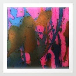 Splashes of Paint Art Print