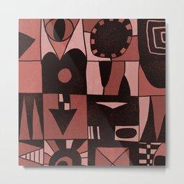 Geometric shapes #4 red Metal Print