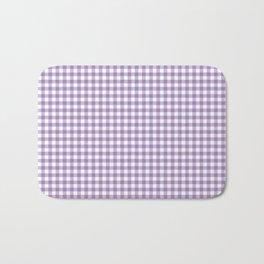 Geometric modern violet white checker stripes pattern Bath Mat
