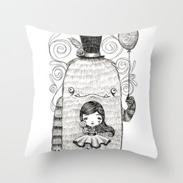 My Monster Friend Throw Pillow