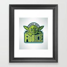 Dagobah Swamp Force Framed Art Print