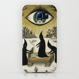 Three Shadow People Terrify a Victim During an Episode of Sleep Paralysis iPhone Case