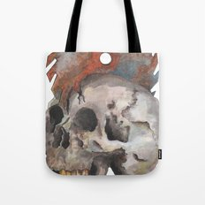 Inked up Skull Tote Bag