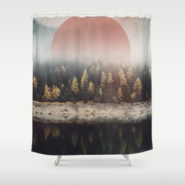 The Calmest of Woods Shower Curtain