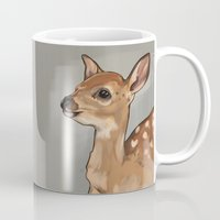 fawn Mugs featuring Fawn by Kendra Aldrich