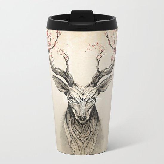 Deer tree Metal Travel Mug