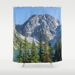 Blue Sky Over Enchantments Shower Curtain