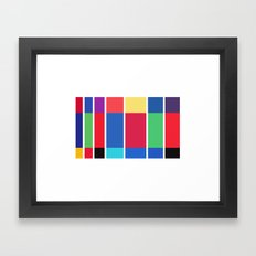 Minimalist Harry Potter Spines Framed Art Print