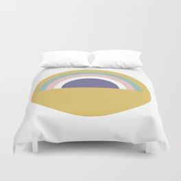 Rainbow and sun Duvet Cover
